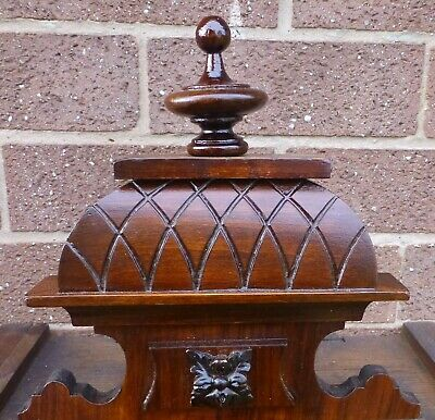 Antique Clock crown/Top small Vienna type wall, large bracket,Mantel in  Walnut