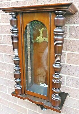 Vienna wall clock cabinet in walnut including Mount for small Vienna movement