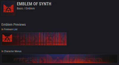 Destiny 2 - Emblem Of Synth (Xbox One, PS4, PC)