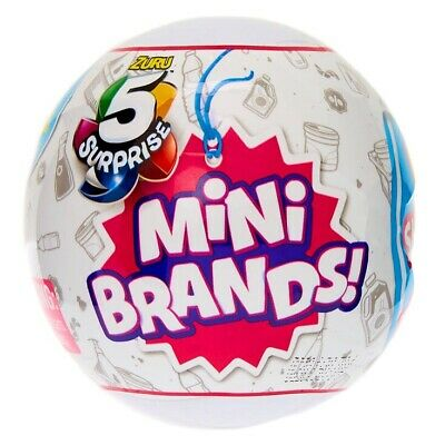 5 SURPRISE MINI BRANDS - 1 BALL, 5 figures,  ZURU - NEW! FREE SHIPPING
