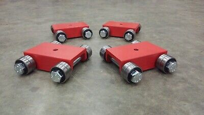 "Machine Skates Set (4)  18,000lbs Made in USA Bridgeport machine mover,1.7"" tall"