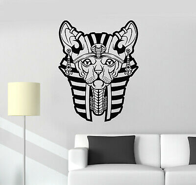Vinyl Wall Decal Ancient Egypt Egyptian Sphynx Cat Pharaoh Stickers (g2165)