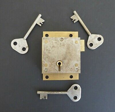 Chubb. Wall Box Lock & Three Keys. Genuine. Gpo. Royal Mail. Post Office.