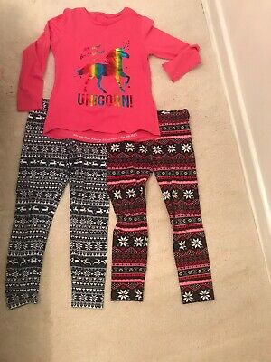 Girls Christmas Leggings And T Shirt Set Age 8,9 -10