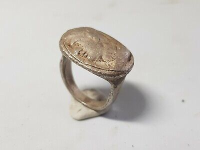 Greek Silver Ring with Male Portrait. Late 4th-3rd century BC