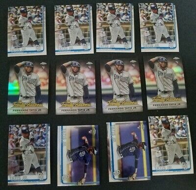 2019 Topps Chrome Update Rookie RC Fernando Tatis Jr huge Lot Of 12 w Refractor