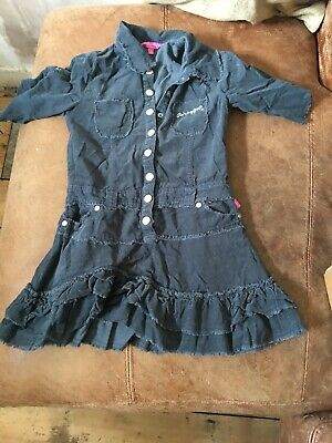 Pineapple by Debbie Moore Girls Aged 8 Grey Cord Dress (SML 20)
