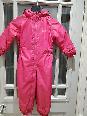 Girls pink REGATTA GREAT OUTDOORS Jumpsuit all in 1  age 24-36 months with hood