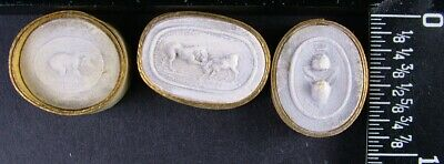 GROUP OF 3 GRAND TOUR ANTIQUE CIRCA 1790 PLASTER INTAGLIOS BY PAOLETTI group c