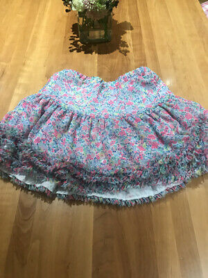 JOULES Girls FLORAL layered Party Skirt Age 9-10 BNWOT