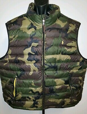 Polo Ralph Lauren Puffer Outerwear Packable Down Vest Camo Camouflage 3XL NWT