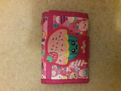 Wallet, Smiggle, used, Blue & Pink cup cake, zip compartmentspurse