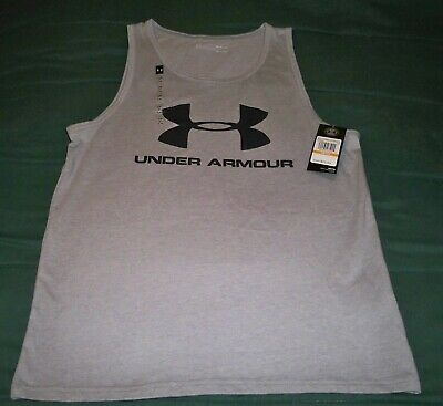Nwt Mens Small Under Armour Gray Sleeveless Tank Top Shirt