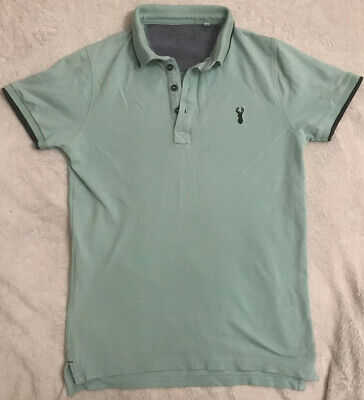Lovely boys NEXT mint green polo shirt age 11 years