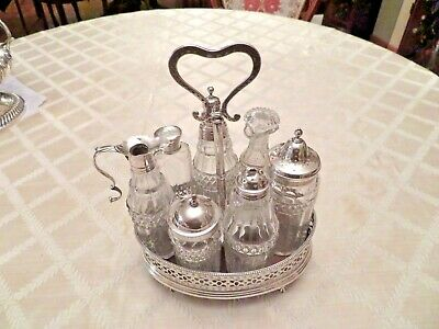 Antique Georgian Sterling Silver Cruet Set