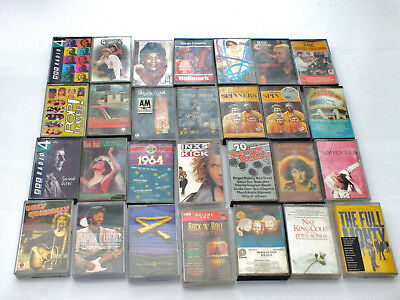 28 x  collection   Audio Cassette Tapes  mostly  Pop/Rock  Music