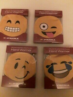 COSY EASTER GIFT Reusable EMOJI SMILEY HAND WARMER Emoticon TRAVEL HEAT PACK