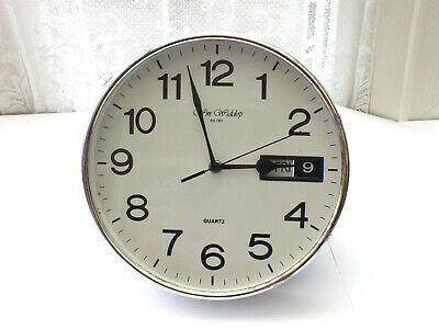 Wm   Widdop   Wall   Quartz  Clock with  Day and Date