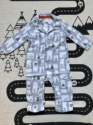Boden Girls Christmas Pyjamas Sleepsuit 12-18 Months