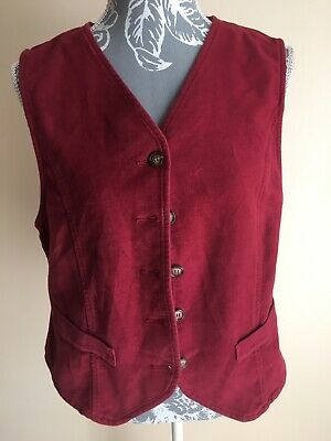 St Michael From M&S Womens Waistcoat Size 12 Raspberry Pink Cotton Casual