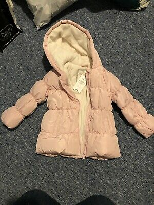 Matalan Pink Girls Coat Age 2-3 Years