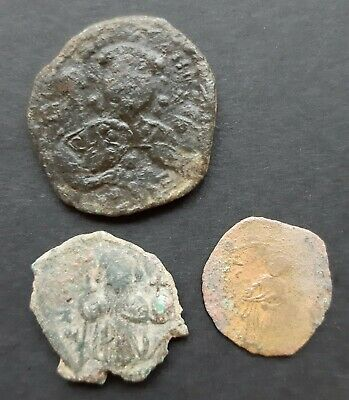 Byzantine bronze coins. Lot of 3 coins