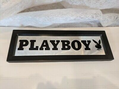 "Playboy Mirror Framed, 18"" X 6"", 2005 Rabbit Head Design, 3E Trading"