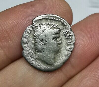 SCARCE Ancient Roman Imperial Nero 65-66 AD Silver Denarius Coin