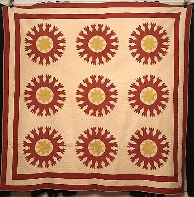Triple Border 1880's CHIPS & WHETSTONES Quilt w/ Great Quilting