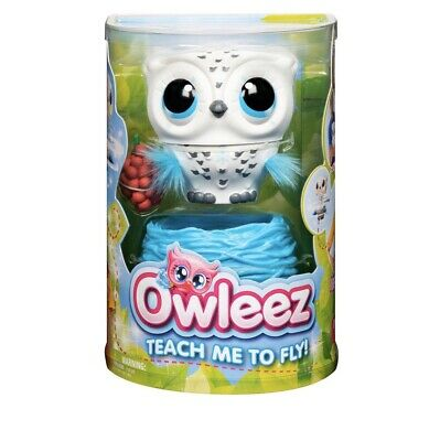 Owleez Baby Owl Flying Interactive Pet Toy Drone with Lights and Sounds WHITE