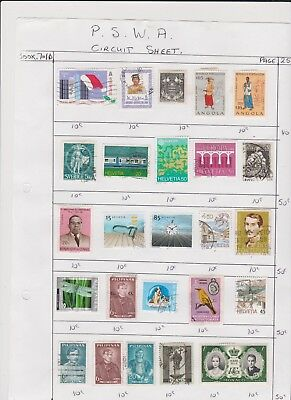WORLD ASST old collection page STAMPS CHEAP 18