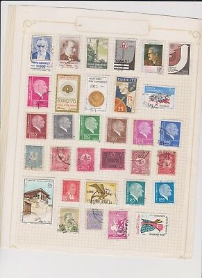 WORLD ASST old collection page STAMPS CHEAP 28