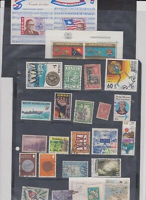 WORLD ASST old collection page STAMPS CHEAP