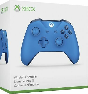 Xbox One S Wireless Controller BLUE (Xbox One) + 2 AA batteries *SEALED*  RARE