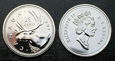 Canada 1991 Proof Gem UNC Five Cent Nickel!!