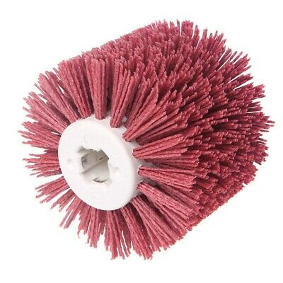 Deburring Red Ceramic Abrasive Wire Round Brushes Head Polishing Buffing Wh P1I8