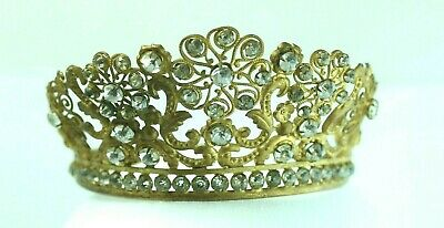 Large Antique 19th Century French Gilded Santos Crown