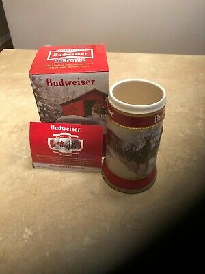 "2019 Budweiser Holiday Stein "" Winter Passage ""  40th Anniversary Edition"