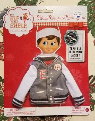 ***New*** The Elf on the Shelf Claus Couture Team Elf Letterman Jacket Clothing
