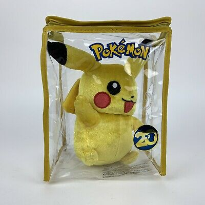Pokemon Pikachu Rare 20th Edition Soft Toy Plush Gift Case Collectable Clean Toy