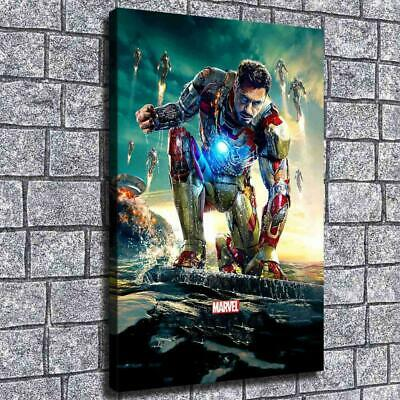 "12""x18"" Marvel Iron Man Poster HD Canvas prints Home decor Room Wall Art Picture"