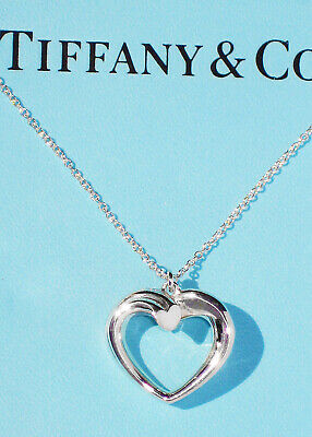 Tiffany & Co Sterling Silver Paloma Picasso Tenderness Heart Pendant Necklace