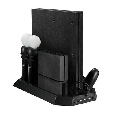 Dual Cooling Station Vertical Stand with Gamepad Charging Dock for Playstation