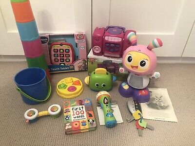 Bundle Of Baby Toddler Toys Fisher Price Bright Beats Dance & Move Vtech Tablet