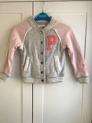 Next Girls Pink And Grey Peppa Pig Jacket Size 3-4 Years