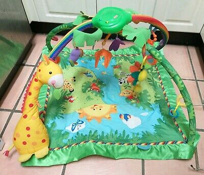 Fisher price rainforest deluxe baby play mat musical