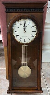 Rhythm WSM Carlisle Wooden Clock with pendulum and Westminster chime