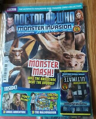 Dr Who Monster Invasion Part 36 Magazine & Trading Cards. New in wrap