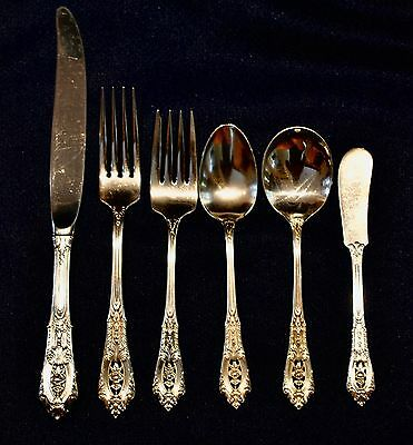 Rose Point By Wallace Sterling Silver Flatware Set For 8 By 6 Super Shape