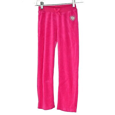 Juicy Couture Kids Girls Yoga Sweat Pants Size 7 Hot Pink Draw String Waist NWT